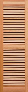 Heavy Duty Western Red cedar Louver Shutter with center mid rail