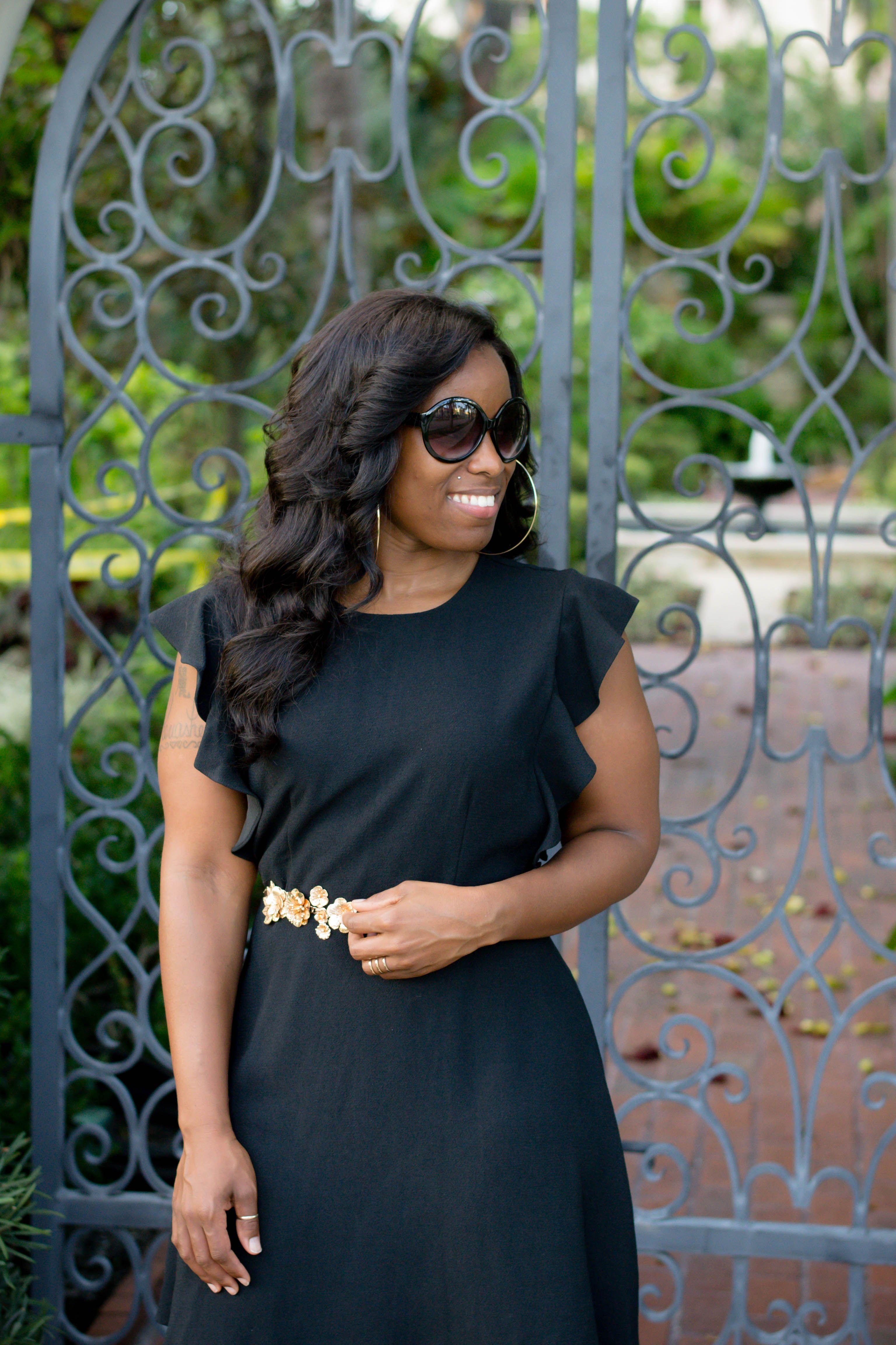 3288887ec Who What Wear - Ruffle Sleeve Fit & Flare Dress | Modelos | Dresses ...