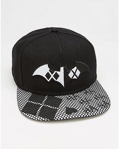 c523df9ddd3f5 Black   White Harley Quinn Snapback Hat - Spencer s