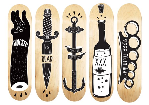 cool skateboard deck designs design skateboards design ideas - Skateboard Design Ideas