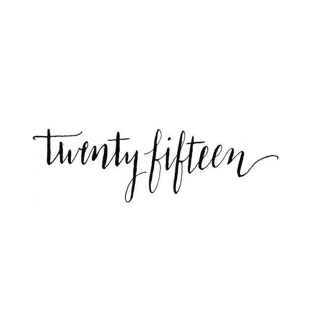 twenty fifteen lettering
