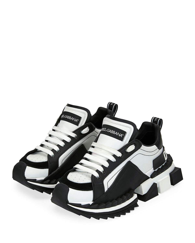 aves de corral Perezoso A bordo  Dolce & Gabbana Super Queen Colorblock Trainer Sneakers | Footwear design  women, Futuristic shoes, White jordan shoes