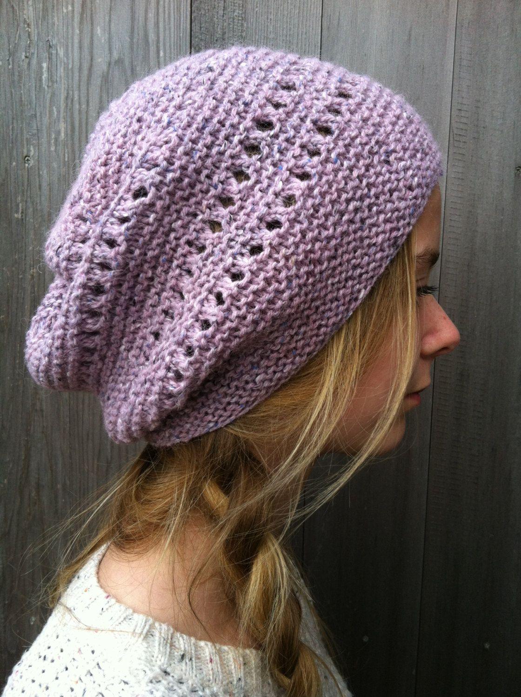 Knitting pattern Slouchy Hat by LowlandOriginals on Etsy | Knit hats ...