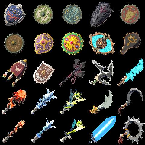 Leaked Weapons | Weapons | Legend of zelda, Legend of zelda