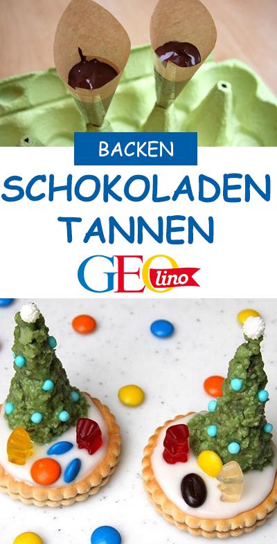 Rezept Tannenbaum.Schoko Tannenbaum Weihnachtsbäckerei Kinderleichte Rezepte
