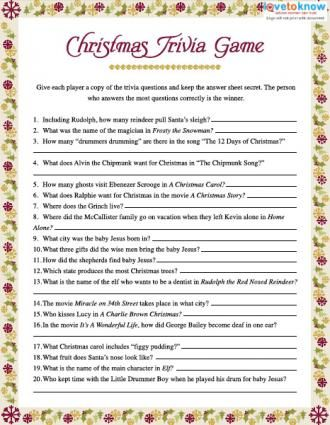 Christmas Trivia Games | Ladies Ministry - Christmas | Pinterest ...