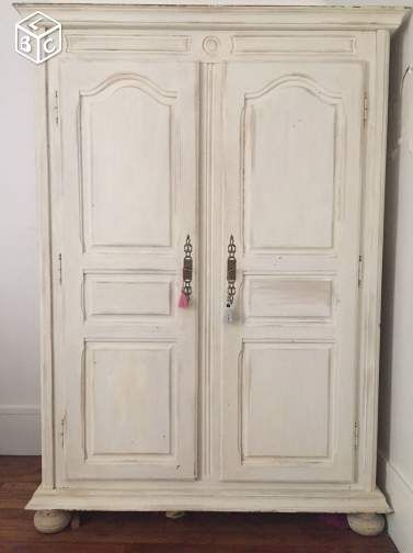 armoire normande ancienne peinte blanche pinteres. Black Bedroom Furniture Sets. Home Design Ideas