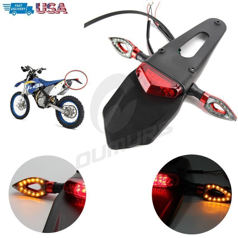 12v Dirt Bike Motorcycle Led Enduro Fender Brake Turn Signal Light Tail Light Unbranded Bike Led Tail Light Bike