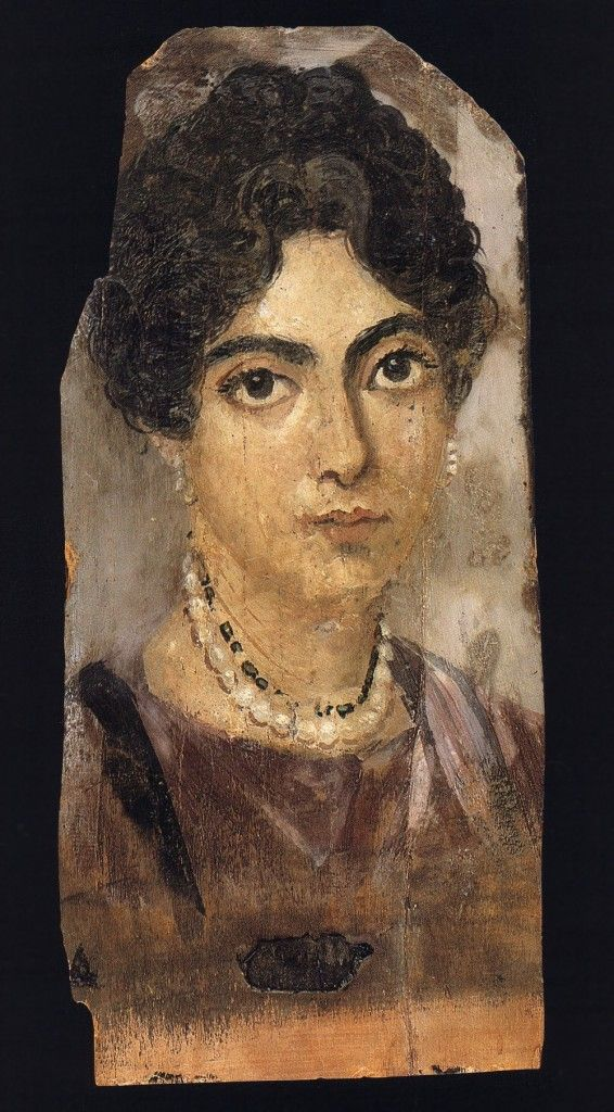 Mummy portrait of woman, er Rubayat, ca AD 160 (Berlin