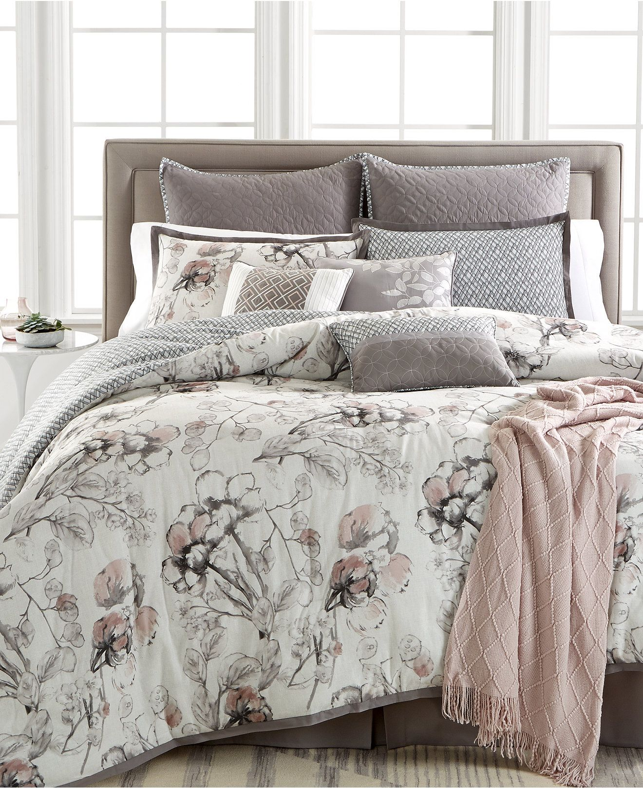 kelly ripa home pressed floral piece comforter sets only at  - kelly ripa home pressed floral pc reversible comforter sets