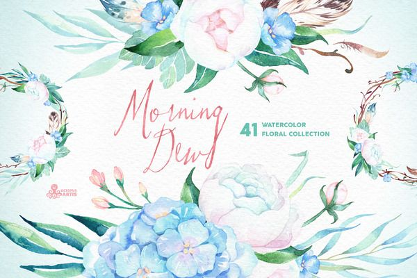 Morning Dew. Floral Collection - Illustrations - 7
