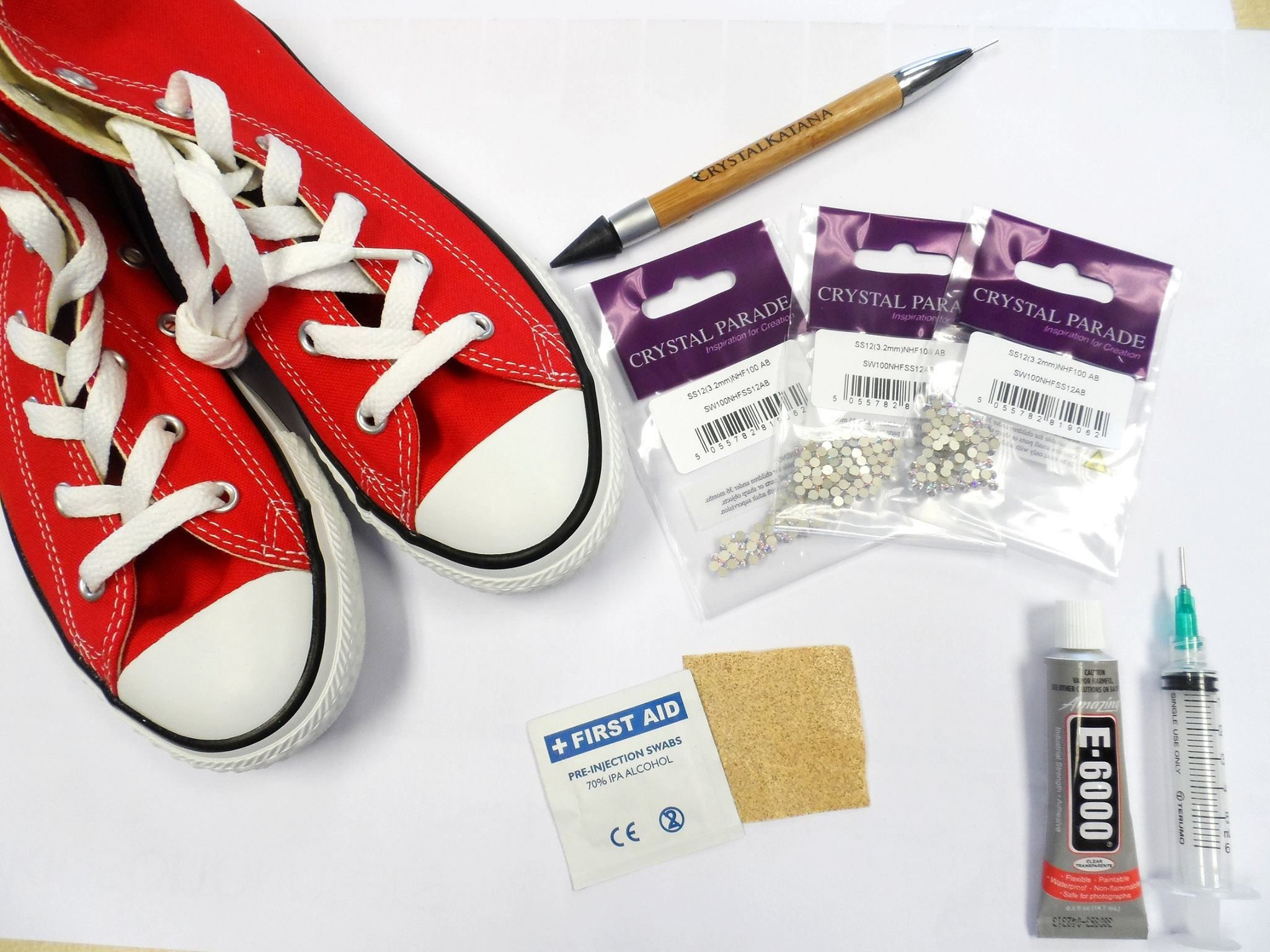 8bec1d2e7bfb75 Bling your own Converse with Crystal Parade s Converse bling kit with  Swarovski crystals