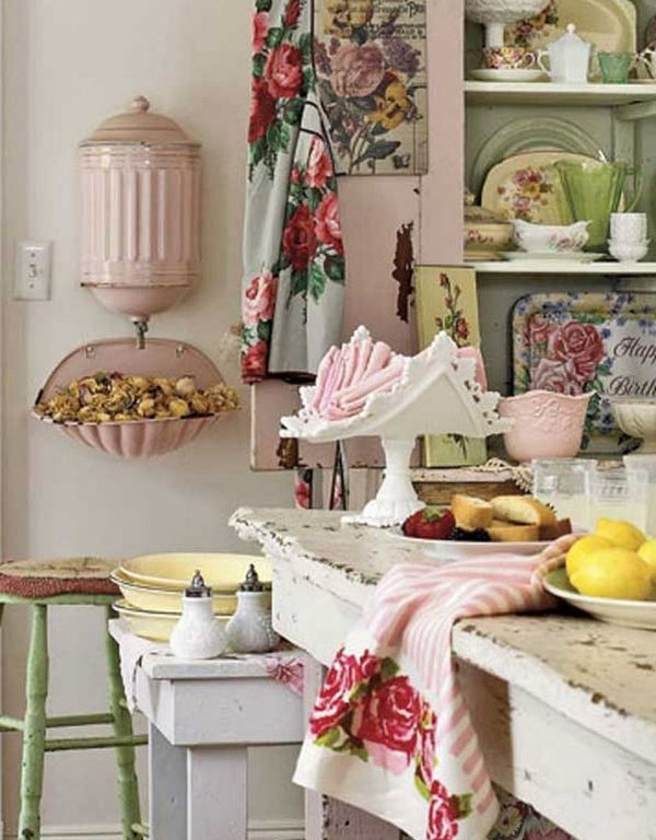 Shabby chic decorating ideas on a budget  Little Piece Of Me is part of Chic kitchen - 20 Shabby chic decorating ideas on a budget  Shabby chic style represents elegance and romantic spirit of ancient times  The charm of the patio, faded rustic