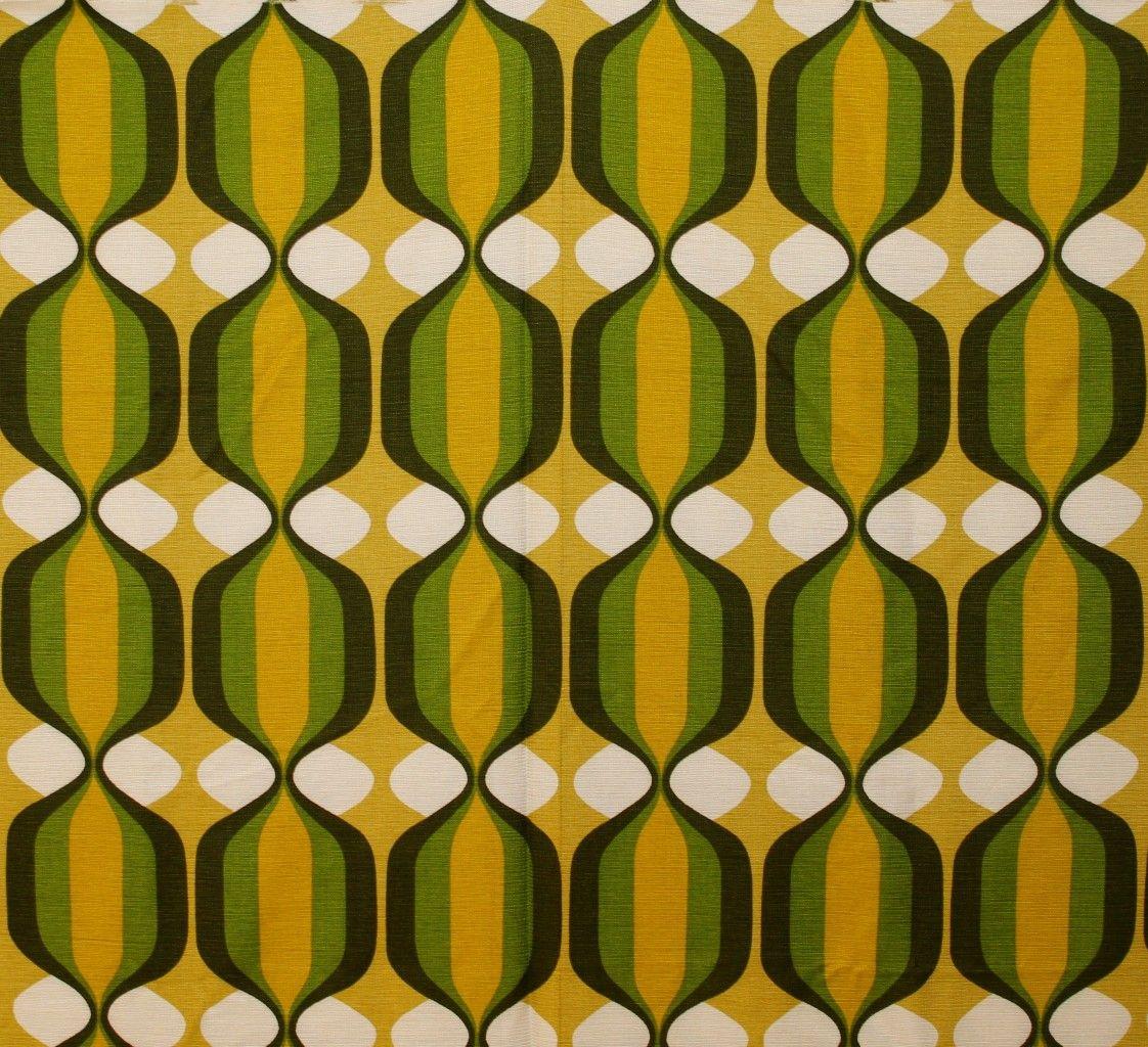 Vintage RETRO Mod OP ART Swirl GEOMETRIC fabric FAB Wall ART   Op ...