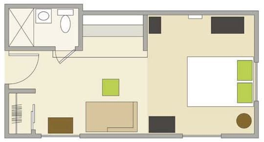 Smart Studio Apartment Layouts Studio Apartment Apartments - Apartment with a smart layout