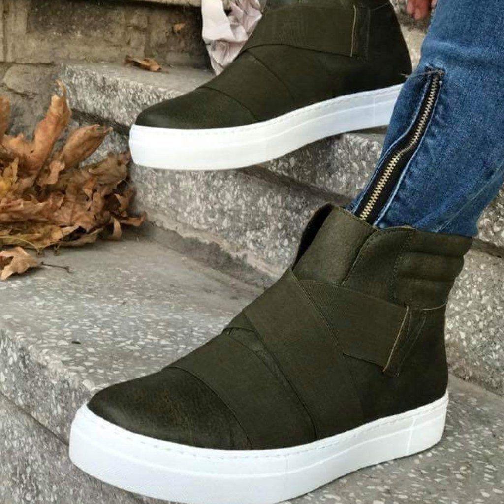 Casual Green Men`s Sneakers