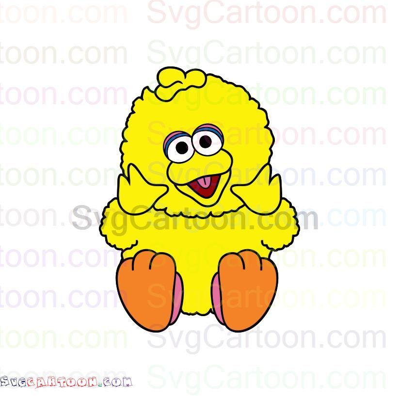 Big Bird Baby Sesame Street Svg Dxf Eps Pdf Png Big Bird Sesame Street Baby Svg
