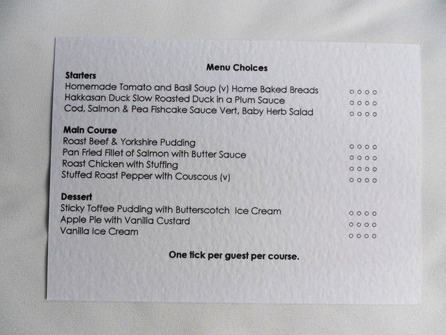 RSVP Cards With Menu Choice Reply Reponse Quick Delivery