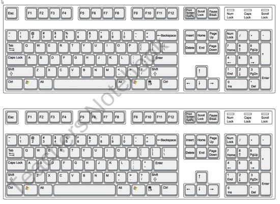 picture about Printable Computer Keyboard known as Keyboarding abilities printable Keyboarding Classes