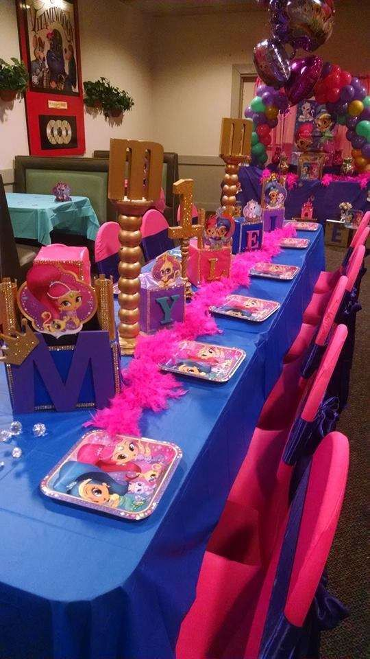Shimmer And Shine Birthday Party Ideas Birthday Stuff Pinterest