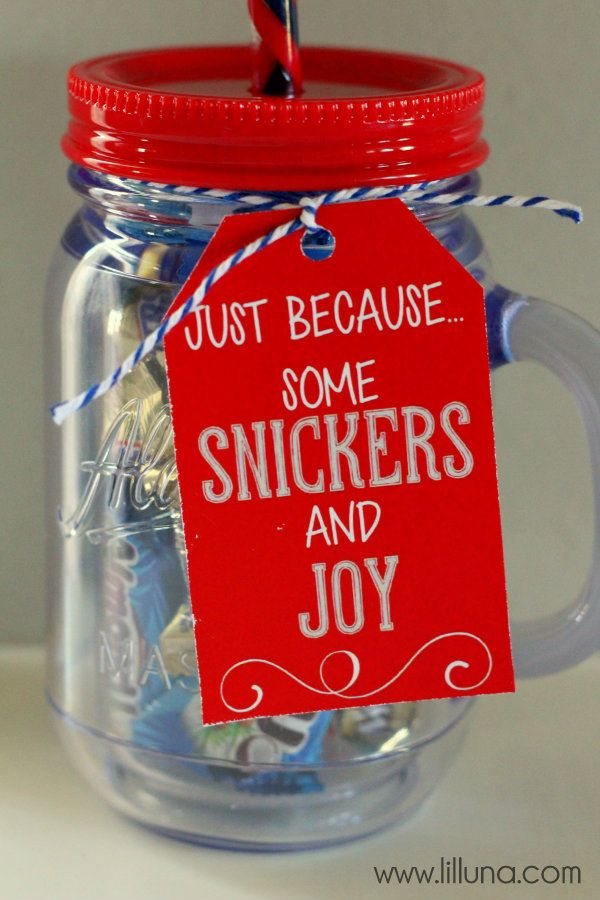 CUTE Snickers and Joy Gift Idea { lilluna.com } | DIY ...