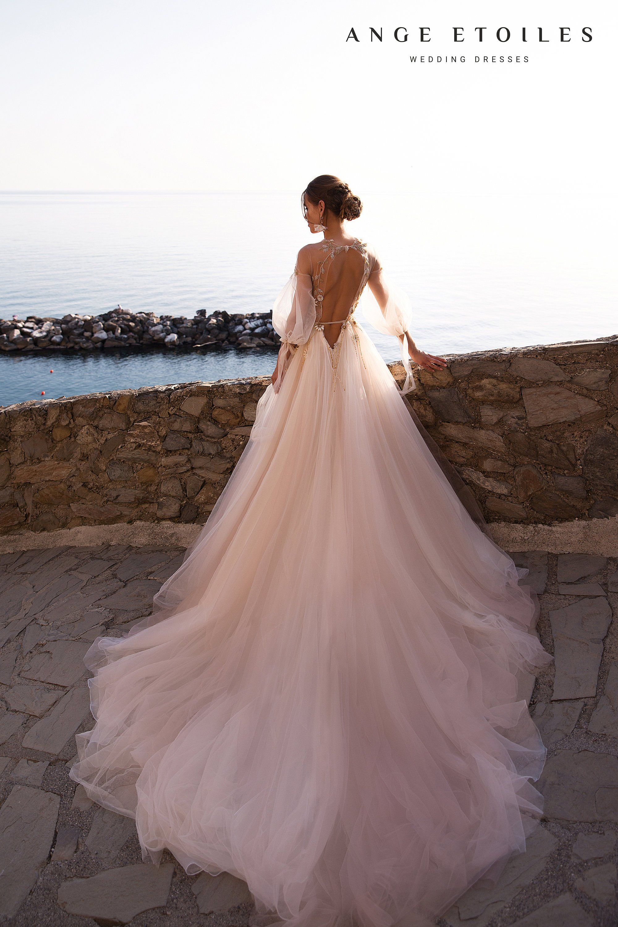 Photo of Wedding dress LOLA by Ange Etoiles with long train • Exclusive bridal gown • Fascinating wedding dress •