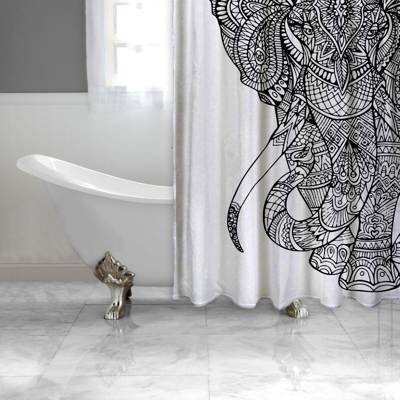 Black and White Elephant Shower