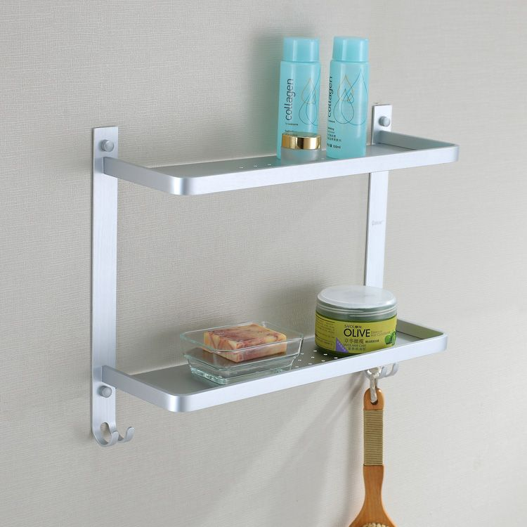 Free shipping aluminum double layer shelf 2 tier shower caddy shower ...