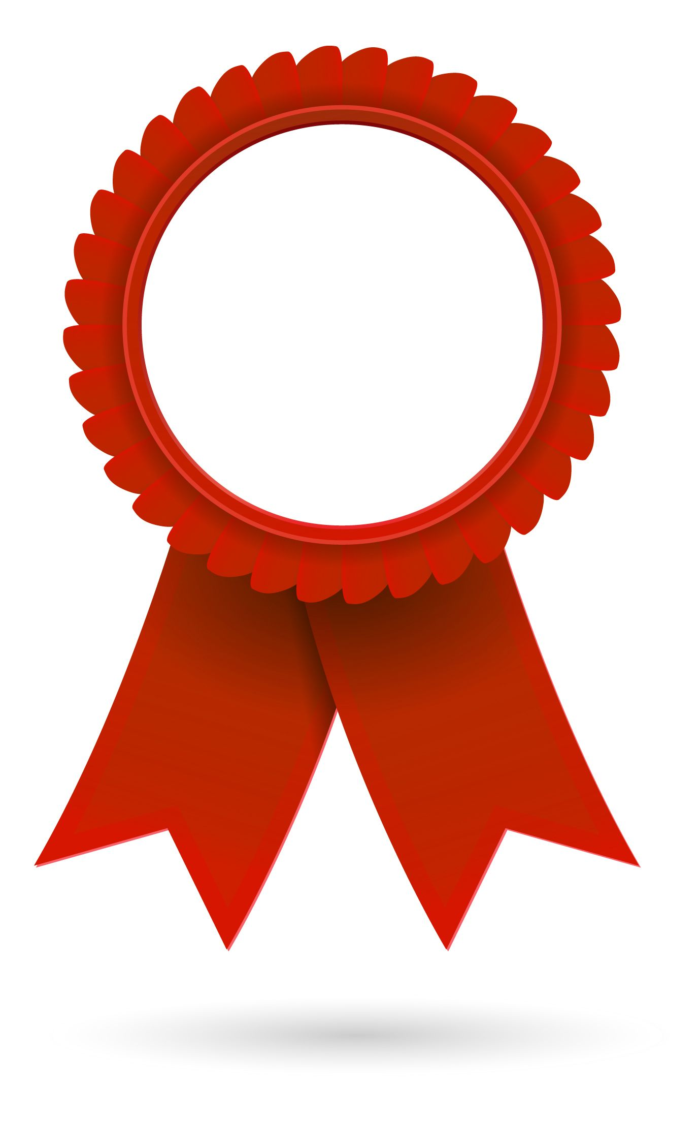 Certificate red. Ribbon clip art clipart