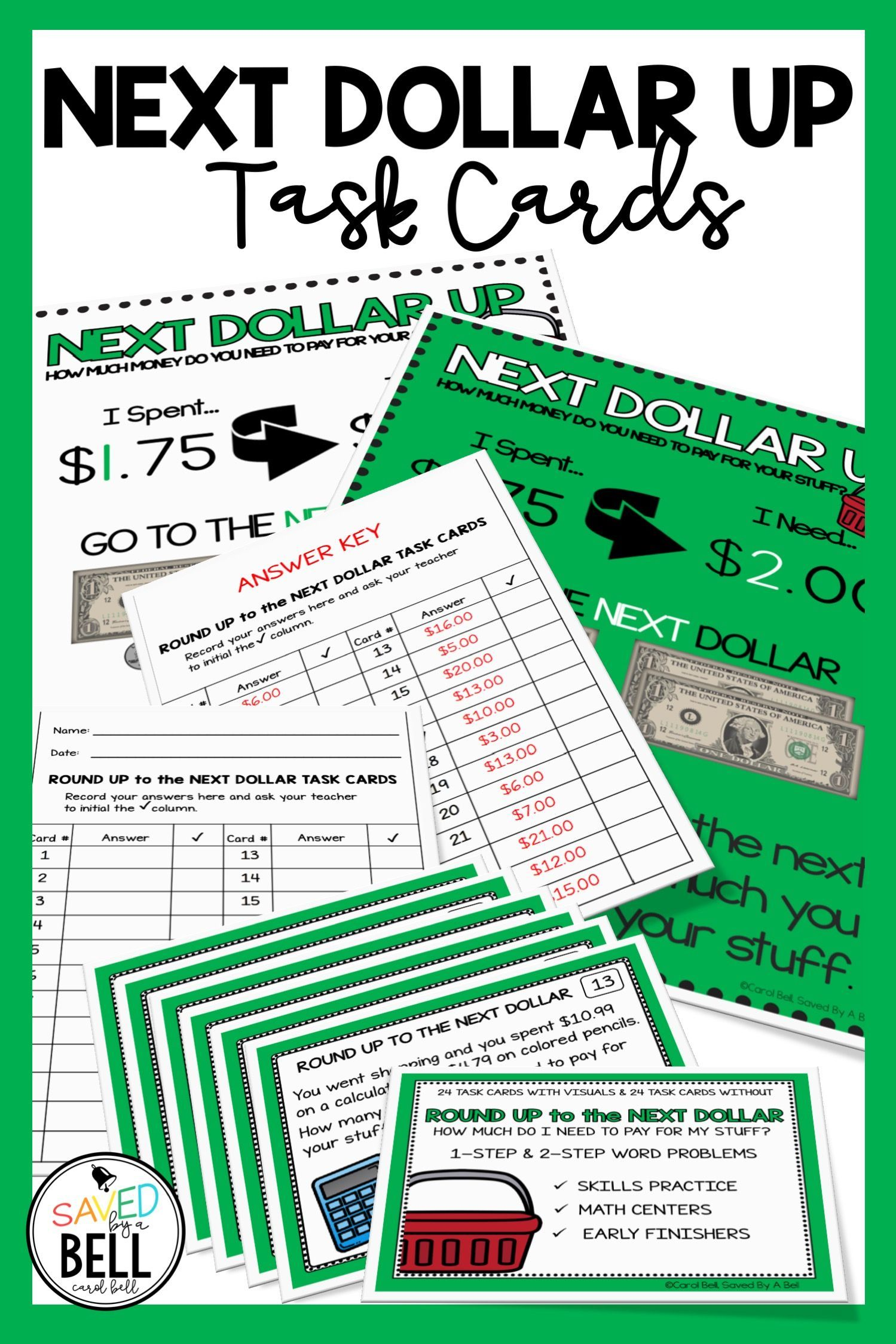 Next Dollar Up Task Cards
