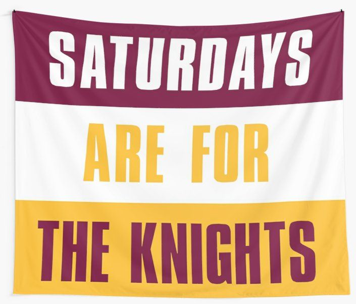 Saturdays Are For The Knights Calvin College Wall Tapestry