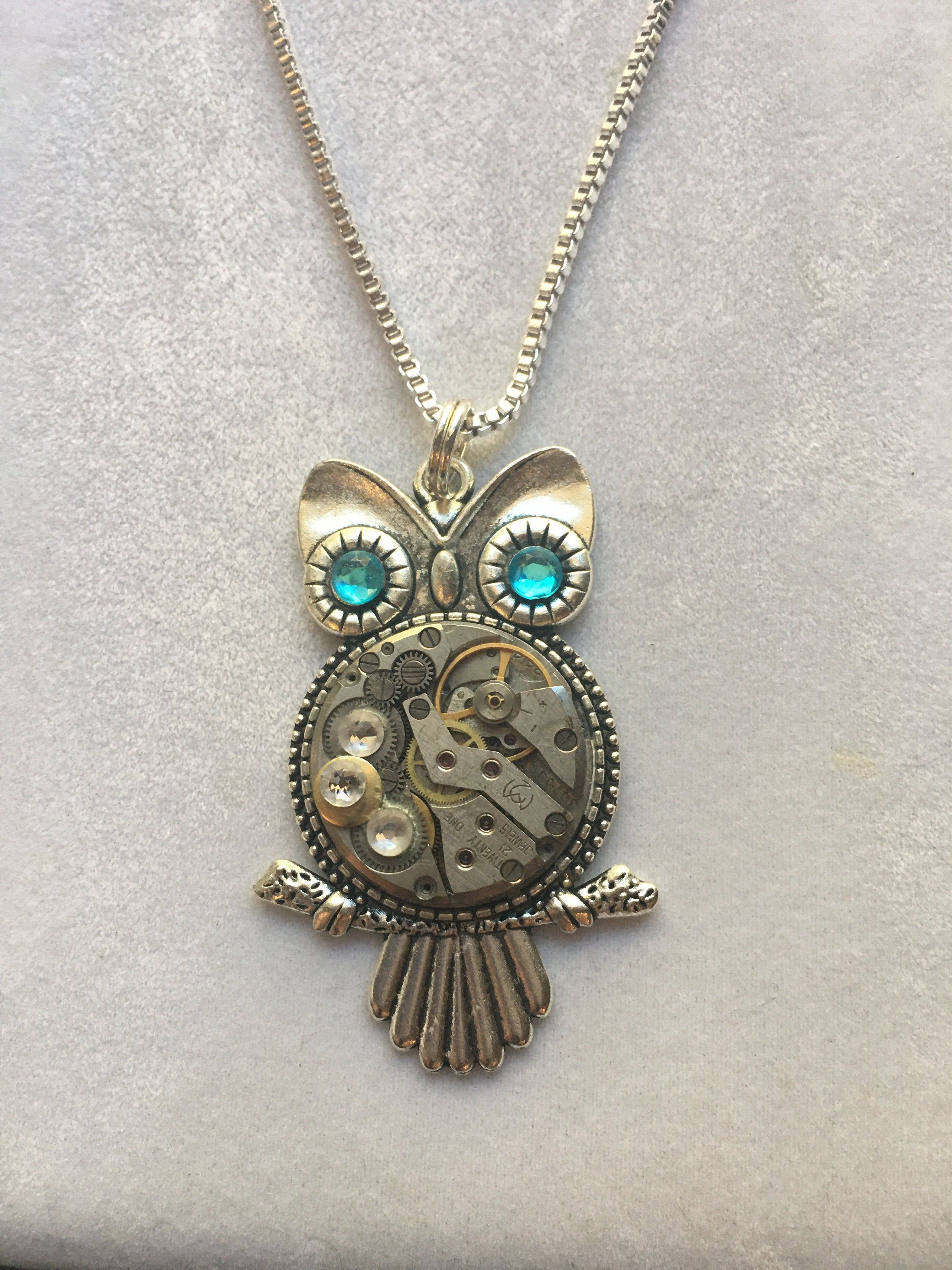 Owl Jewelry Son Daughter Two Tiny Birds Necklace Vintage Gold Owls Necklace Mother and Child Eco Friendly Owls Pendant