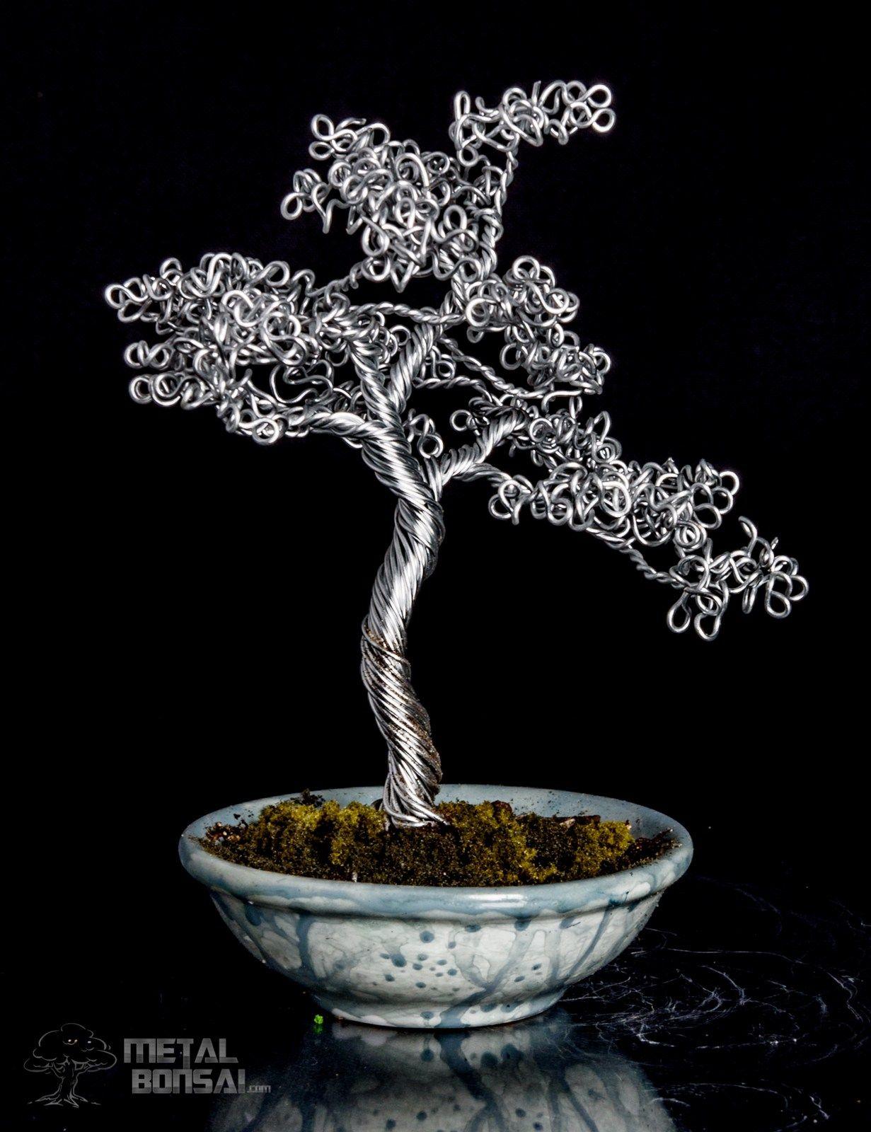 Metal Bonsai Tree : metal, bonsai, Natural, Sculpture,, Bonsai