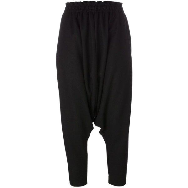 drop-crotch cropped trousers - Black Yohji Yamamoto Cheap Online Store Manchester Free Shipping Shopping Online Sale Genuine y3DiNB