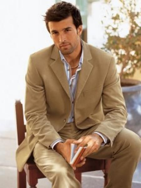 Camel hombres de lana de color traje con Platinum Tailoredi proxenetas en  175 dólares 94135a16f6b