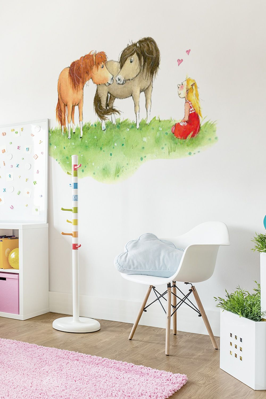 Wandtattoo Pferd Pony Sterne Wandaufkleber Wandsticker Wandbild Sticker Kinder