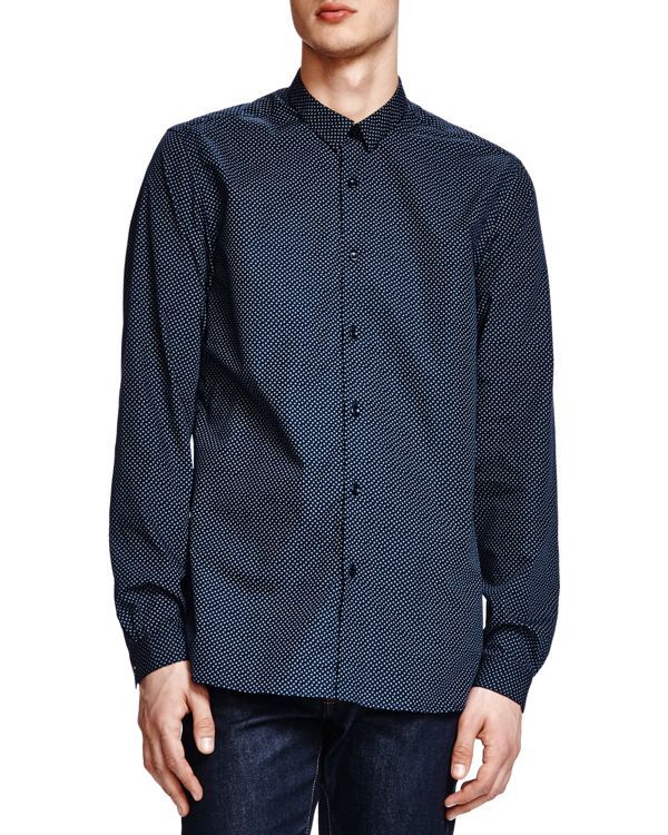 The Kooples Classic Fit Flying Square Button Down Shirt