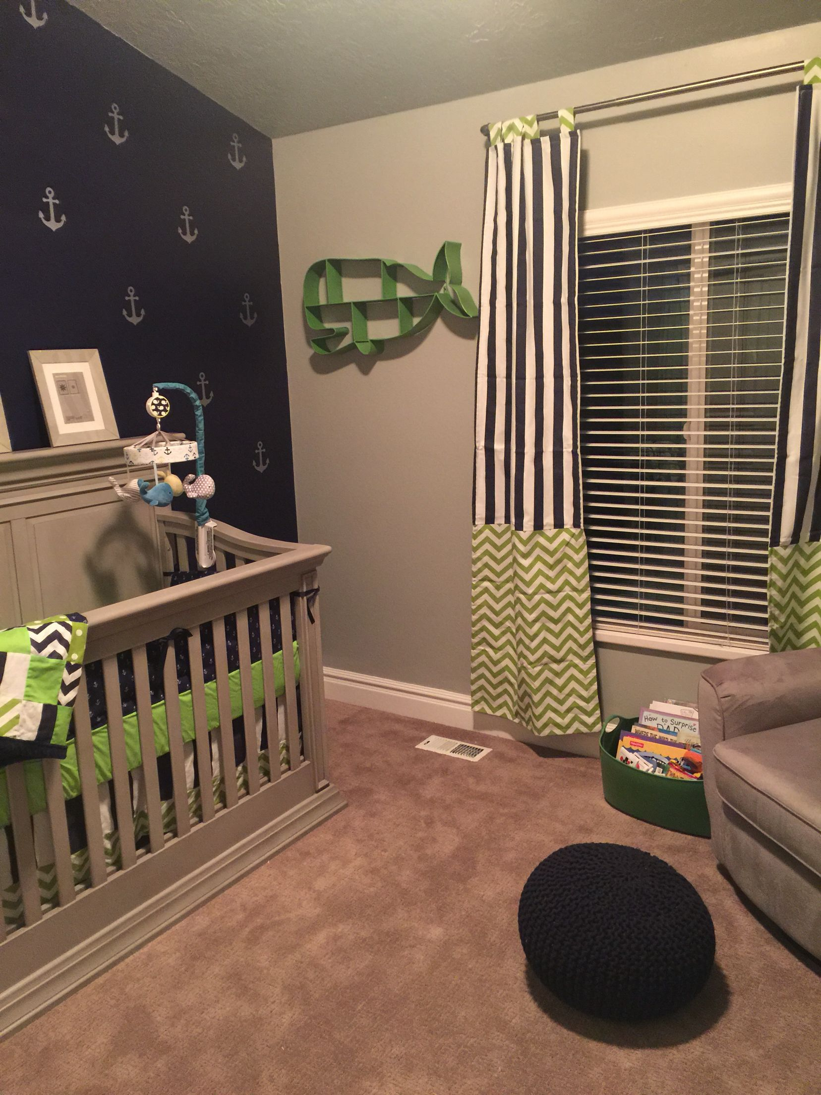 Nautical Baby Boy Room: Baby Nautical Whale Anchor Nursery