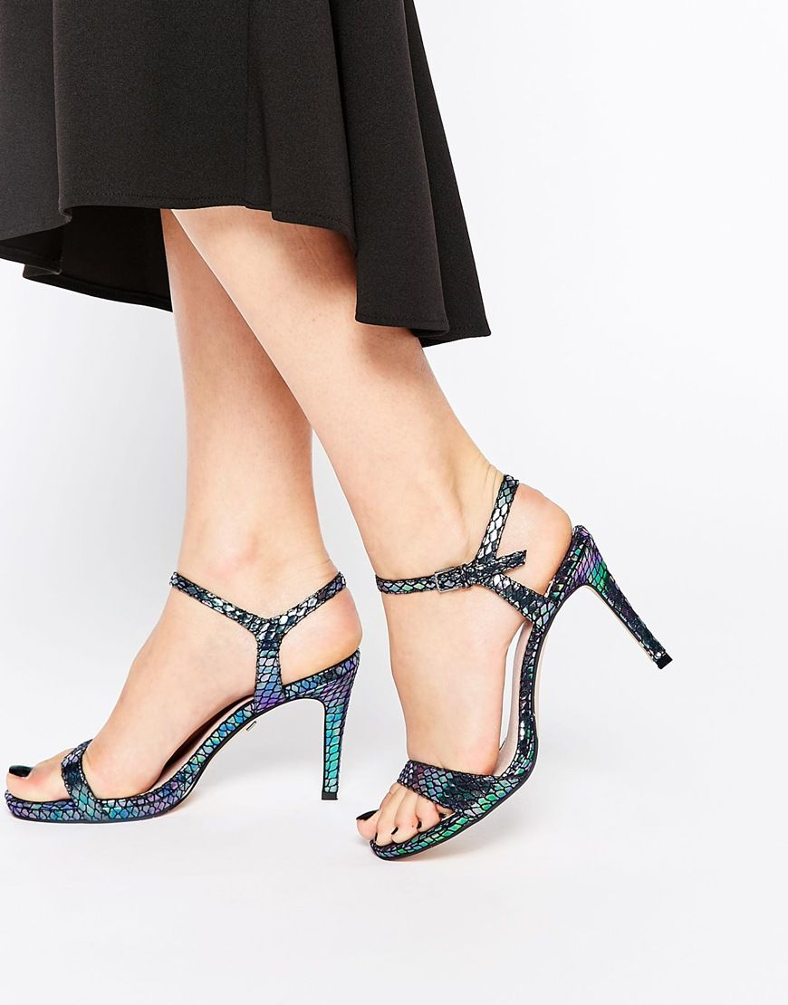 Buy Women Shoes / Faith Liberty Iridescent Barely There Heeled Sandals