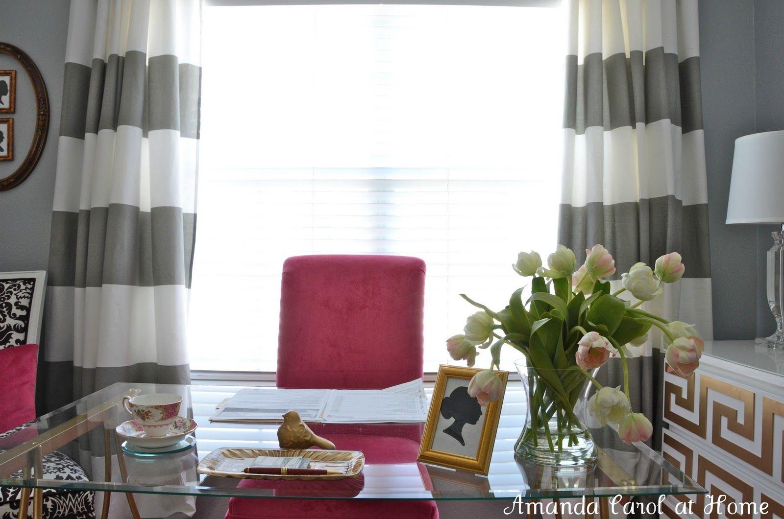 Window decor diy  horizontal stripe drapery  amanda carol interiors  diy home