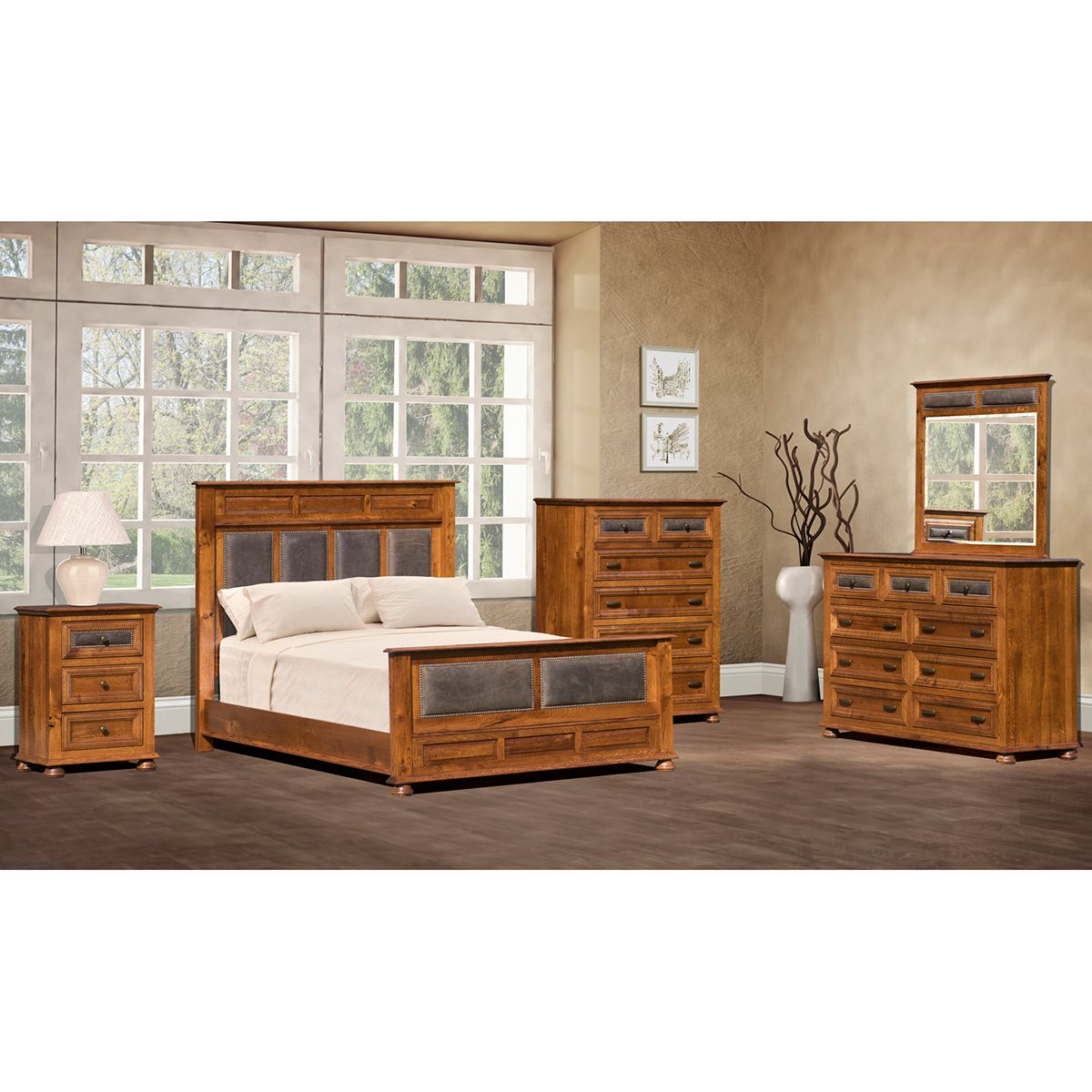 Canyon Creek Bedroom Collection is Amish Made. Comes with