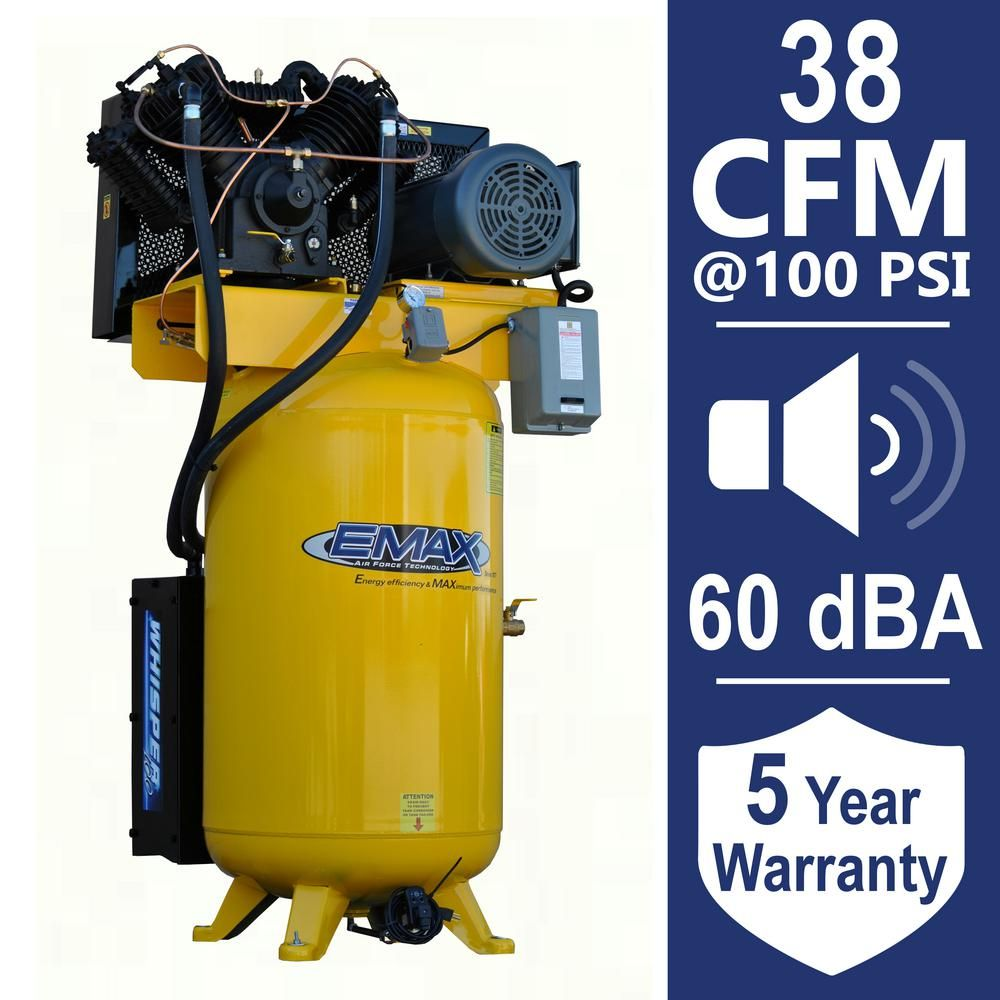 EMAX Industrial PLUS 80 Gal. 10 HP 1Phase Silent Air
