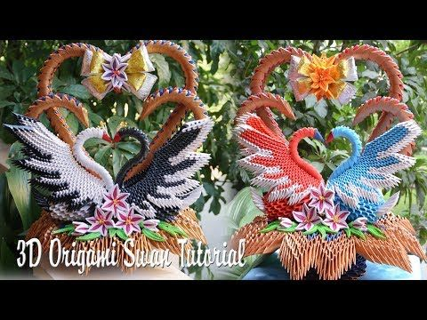 How to make 3d origami swan (updated) - YouTube | 360x480