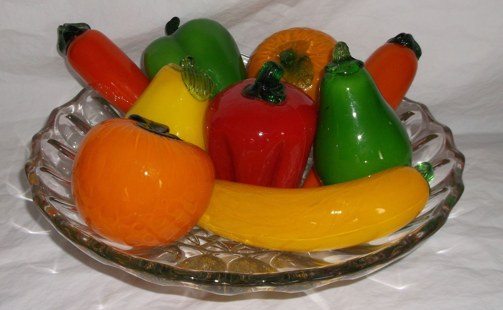 Vintage Murano Glass Fruits Vegetables Pepper Carrot Pear Orange Banana 9 Pieces Fruits And Veggies Fruits Vegetables Glass Blowing