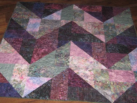 Batik Chevron Throw by DebsQuiltWorld on Etsy, $155.00