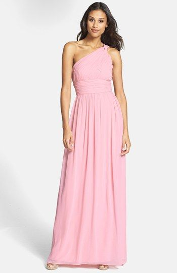 For the maid of honor -DT (Donna Morgan Ruched One-Shoulder ...