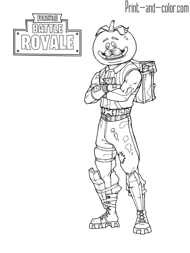 Fortnite battle royale coloring page Tomatohead Fortnite