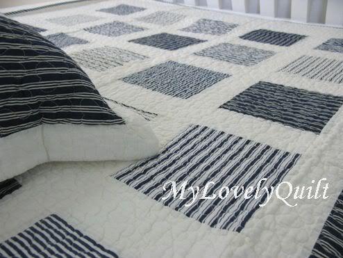 Navy Blue White Patchwork Quilt Set Boy Twin Single N | DIY and ... : navy white quilt - Adamdwight.com