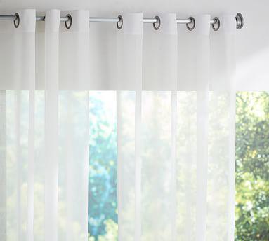 Outdoor Sheer Grommet Curtain Drapes Grommet Outdoor Drapes