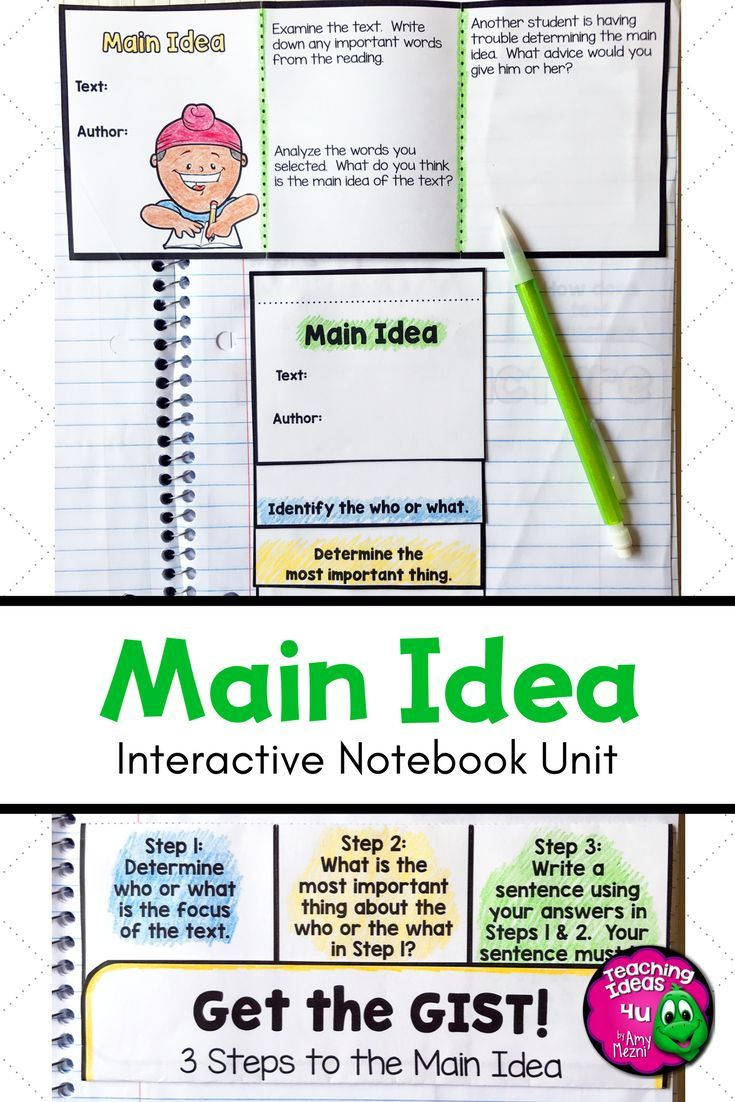 Main Idea Reading Strategy Unit Notes Practice Assessment